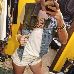 Cute lil denim vest!